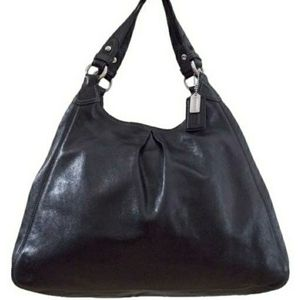 Coach Madison Maggie Large Hobo black leather